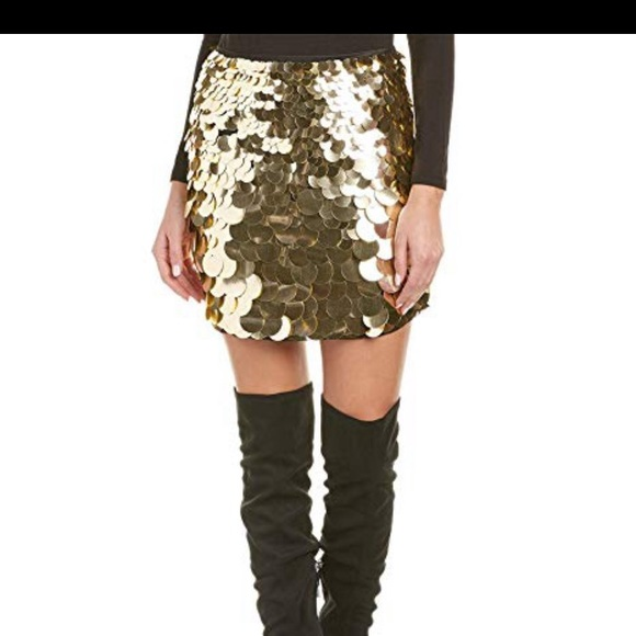 Free Shipping Skirt Trina Turk skirt with Rectangular Sequins